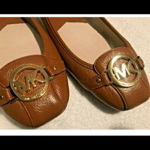 Michael Kors leather moccasin.